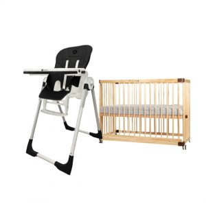 Snack High Chair + Lavo 5 Cot